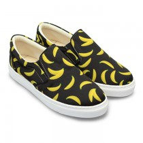 FUFA富發牌國民鞋*可愛香蕉插畫懶人鞋 黑色