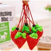可愛草莓袋 可折疊環保收納袋 10色