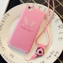 IPHONE 6S 超可愛粉紅兔耳朵蝴蝶結手機殼(不含掛繩)