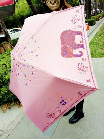 【現貨天空藍.紫.黃.深藍】【超輕】自由大象 / 防風 / 遮光膠布 /  抗UV / 手動陽傘雨傘 X RUNWAY FASHION ICON