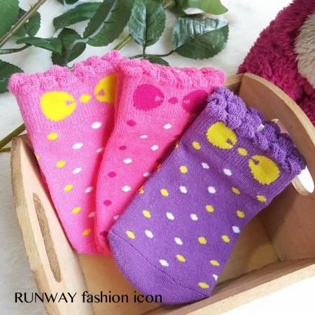 【現貨】MIT台灣製棉質可愛點點蝴蝶結小孩兒童防滑襪 X RUNWAY FASHION ICON