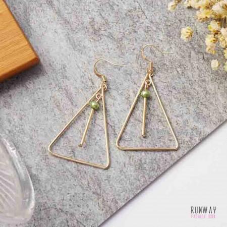【可改夾】三角交響樂耳夾耳針耳環2色 X RUNWAY FASHION ICON
