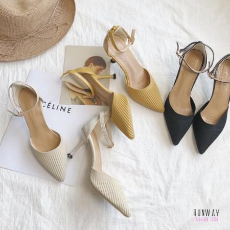 【免運】優雅仙女風尖頭質感氣質婚禮鞋高跟鞋 (3色) X RUNWAY FASHION ICON