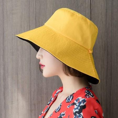 【影片實拍】【買一送一.現貨免運】漁夫帽遮陽防曬防紫外線雙面可戴折叠式漁夫帽5色 X RUNWAY FASHION ICON
