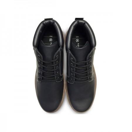 【現貨26黑】 FUFA富發牌國民鞋*個性潮流街頭中筒綁帶靴情侶鞋 黑色