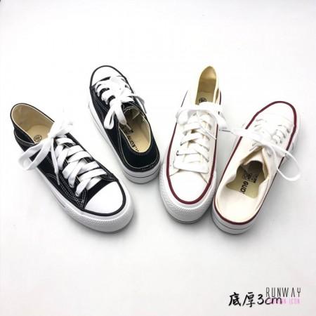 【免運】兩穿懶人鞋帆布鞋百搭基本款2色 X RUNWAY FASHION ICON