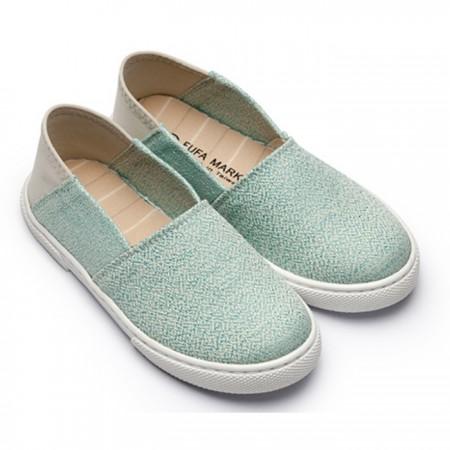 【現貨免運】 綠色17 綠色22  FUFA富發牌國民鞋*細圓點/針織布紋後腳踩懶人鞋兒童鞋