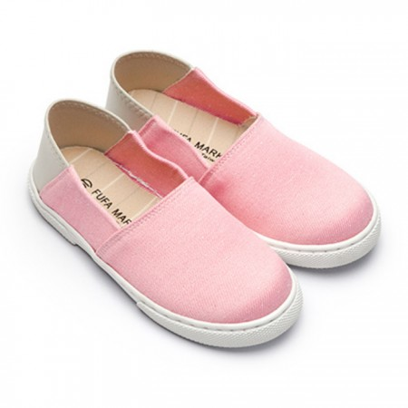 【現貨】灰色 22 綠色17 綠色22 粉色17  FUFA富發牌國民鞋*細圓點/針織布紋後腳踩懶人鞋兒童鞋
