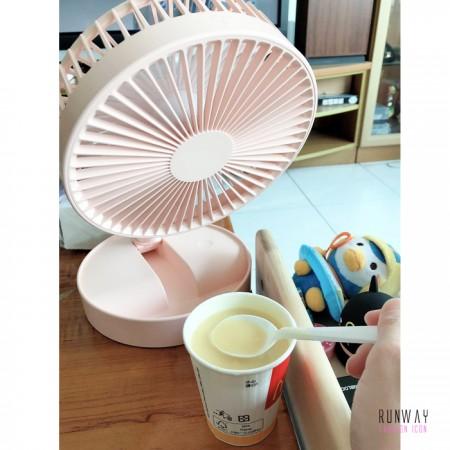 【影片實拍】【免運】小漢堡收納式伸縮折疊電風扇 方便攜帶 旅行露營 電風扇2色 X RUNWAY FASHION ICON