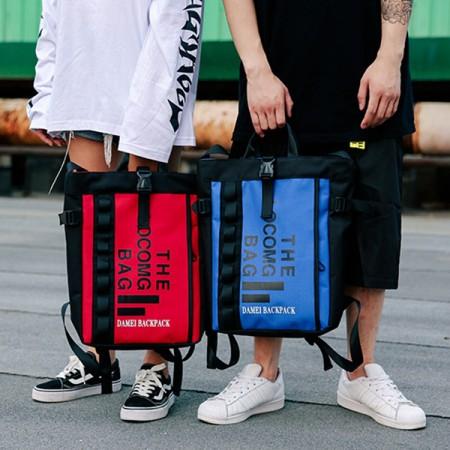 【免運】美式休閒拚色大字母方型雙肩後背包手提包(4色) X RUNWAY FASHION ICON