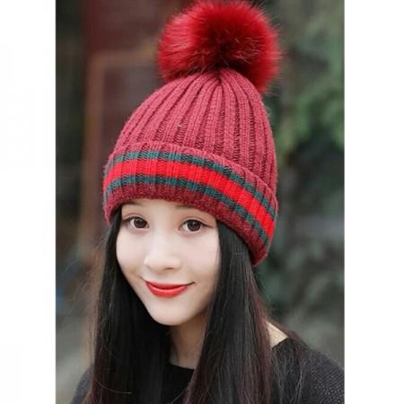 【現貨卡其.酒紅】 素色線條毛線帽 X RUNWAY FASHION ICON