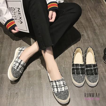 【免運】毛絨絨平底休閒福樂鞋(2色) X RUNWAY FASHION ICON