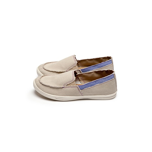 【現貨杏色23.5】【免運】  FUFA富發牌國民鞋*布質雙色不修邊懶人鞋