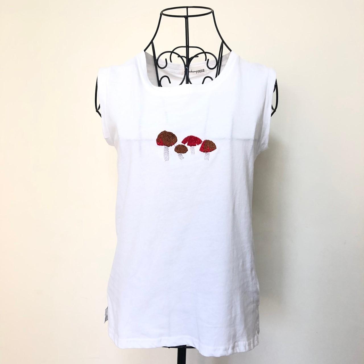【現貨】夏季韓版無袖棉質蘑菇上衣(白色) X RUNWAY FASHION ICON