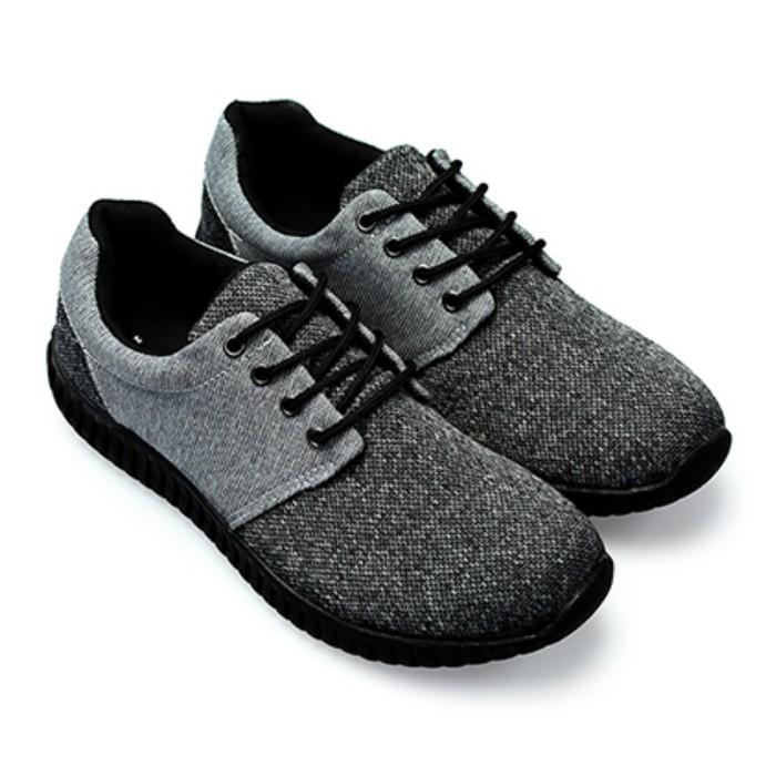 【絕版現貨優惠出清】灰24.5  FUFA富發牌國民鞋*混色織紋布感慢跑鞋2色