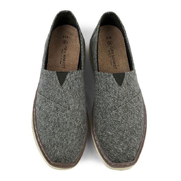 【現貨灰色27】 FUFA富發牌國民鞋*休閒單寧布織紋舒適懶人鞋男款