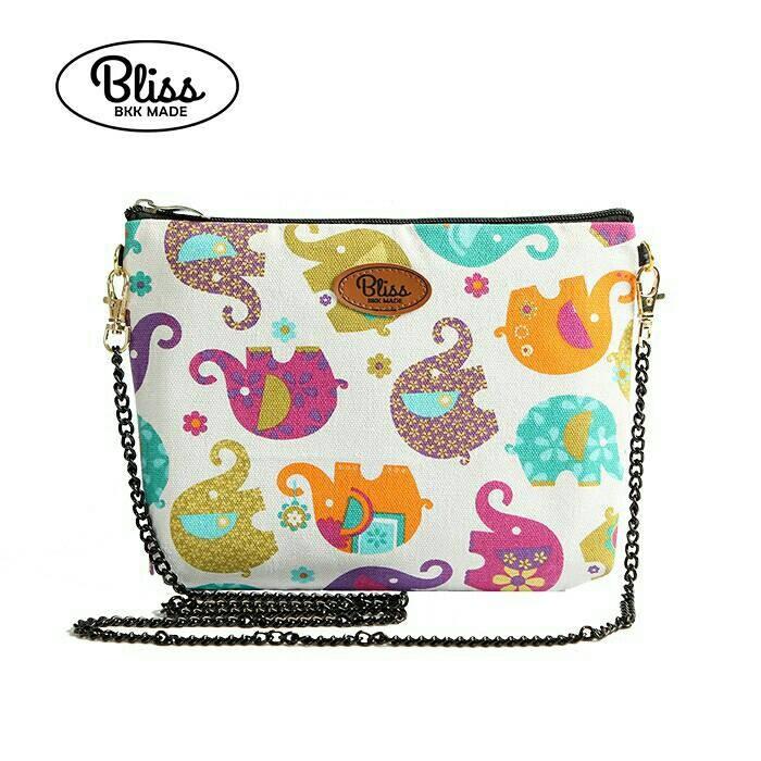【影片實拍】【正版授權】泰國Bliss BKK包 - 可愛彩色大象 手拿包側背包 (4款背帶可選) X RUNWAY FASHION ICON