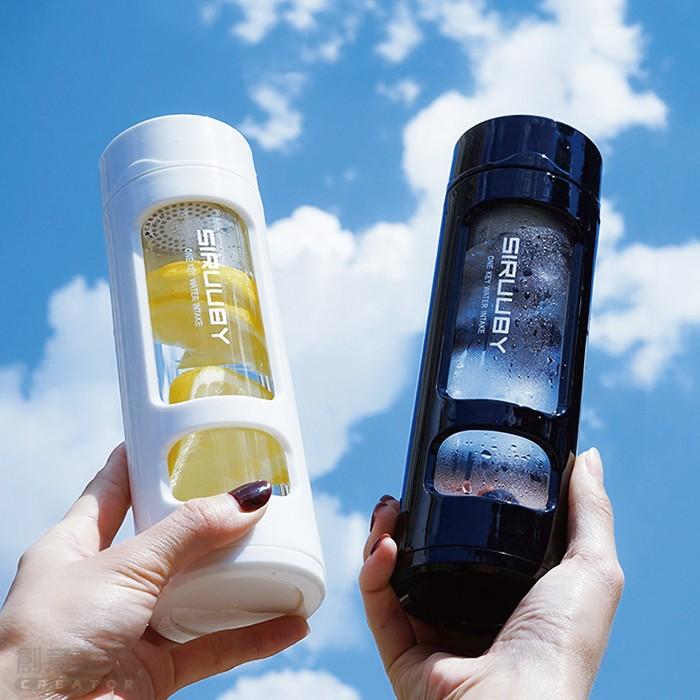 【影片實拍】【雙層塑玻杯】高硼矽塑玻杯 真空玻璃內膽瓶 防彈咖啡耐熱 防摔 400ml X RUNWAY FASHION ICON