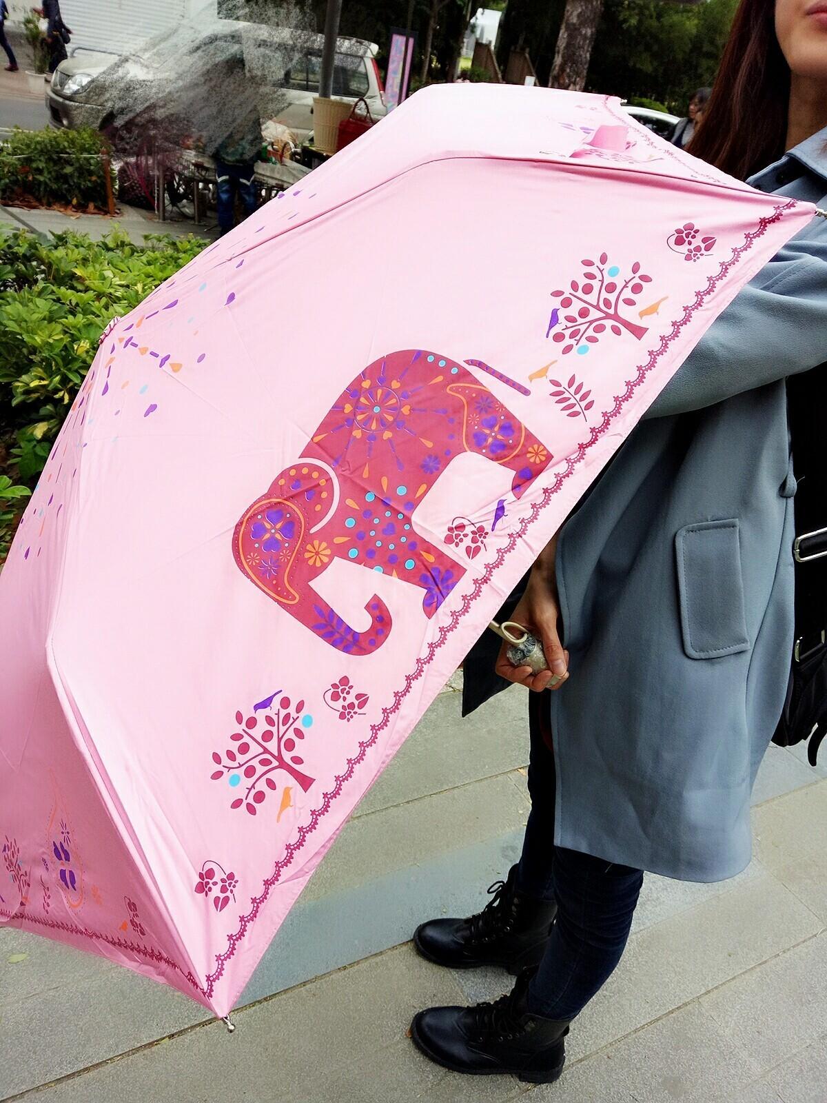 【現貨粉色】【自動傘】自由大象 / 防風 / 遮光膠布 /  抗UV / 自動陽傘雨傘 X RUNWAY FASHION ICON
