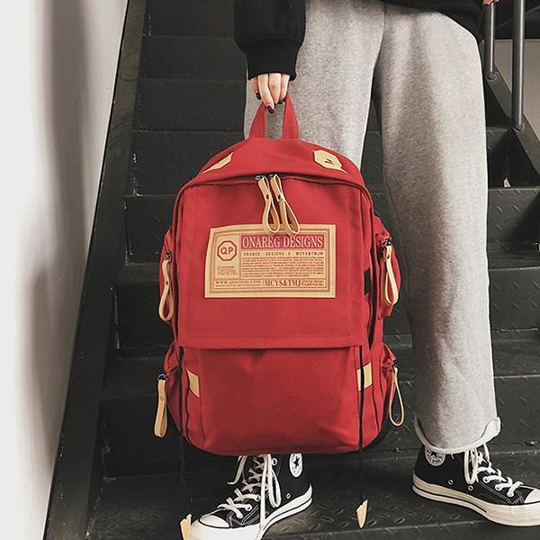 【免運】韓版學院風經典帆布後背包旅行包情侶包(7色) X RUNWAY FASHION ICON