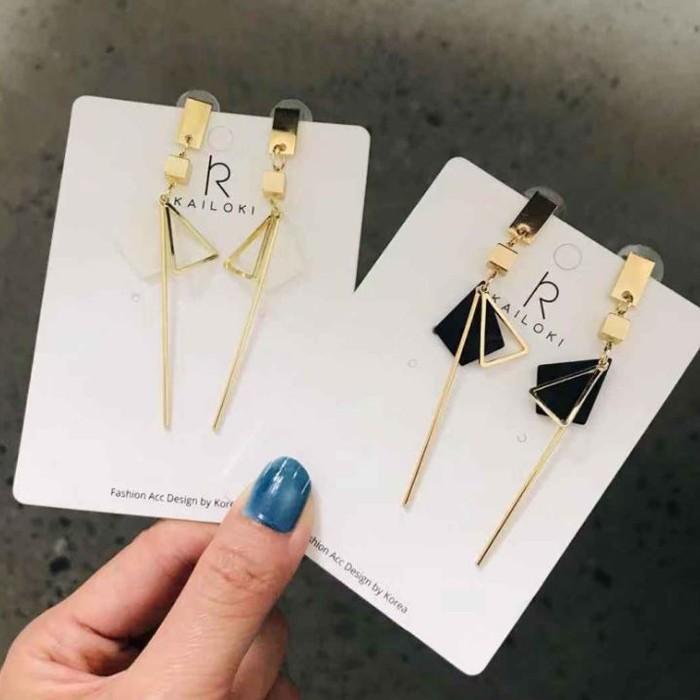 【可改夾】幾何個性垂吊修飾臉型鋼針耳環 X RUNWAY FASHION ICON