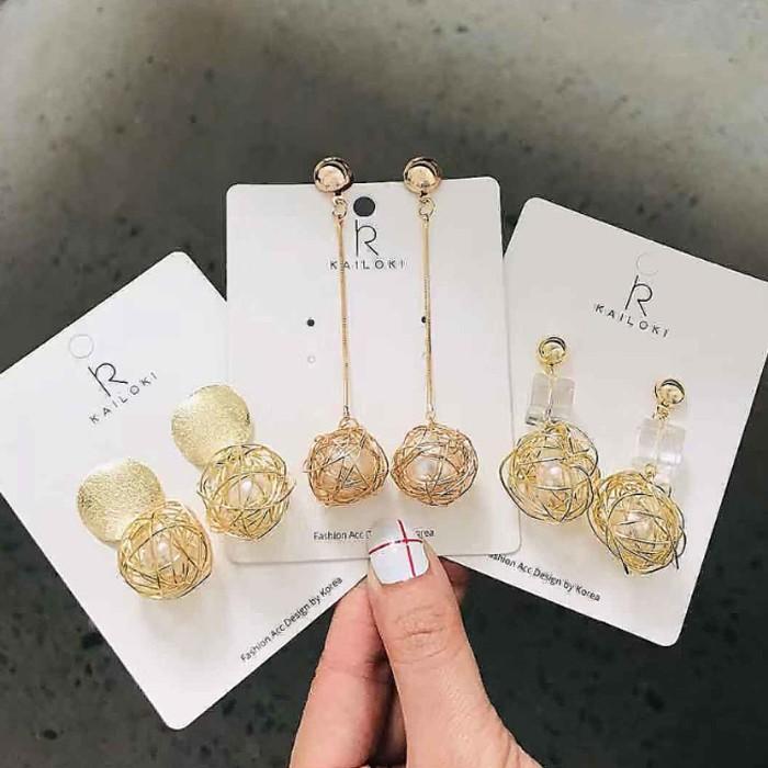 【現貨】【可改夾】鳥巢簍空球球個性耳針耳環(五款) X RUNWAY FASHION ICON