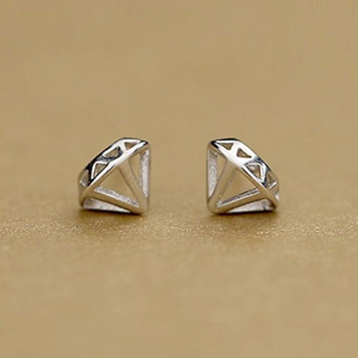 鑽石 S925銀耳針 X RUNWAY FASHION ICON