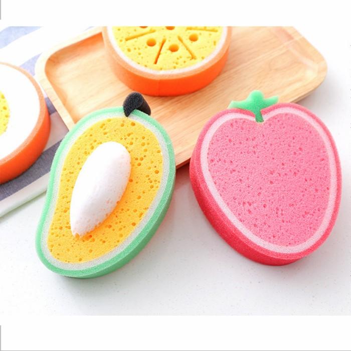【有影片實拍】【買一送一】繽紛水果洗碗海綿(芒果.橘子.草莓.哈密瓜) X RUNWAY FASHION ICON