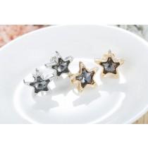 韓版氣質點綴星空夾式耳環(銀/金)