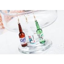 【現貨】【影片實拍】【可改夾】韓國熱賣燒酒 清酒 台啤 米酒 歐逆必備防敏鋼針耳環 X RUNWAY FASHION ICON