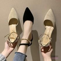【免運】層次感高跟氣質風小姊姊尖頭高跟鞋2色 X RUNWAY FASHION ICON