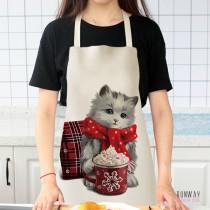 貓咪奶貓長毛貓小貓萌貓貓貓透氣棉麻圍裙 X RUNWAY FASHION ICON