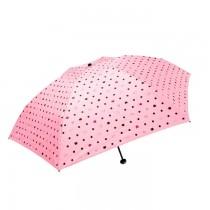 【現貨】【抗UV】水玉點貓貓遮光布碳纖輕量傘/ 三折傘  抗UV / 陽傘雨傘 5色X RUNWAY FASHION ICON