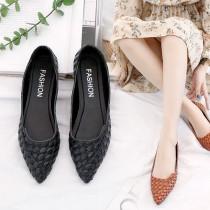 【免運】新款韓版尖頭百搭平底休閒出遊鞋工作鞋2色X RUNWAY FASHION ICON