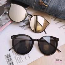 【現貨免運】夏季新款太陽眼鏡大框圓框防紫外線顯瘦墨鏡(附贈眼鏡盒)  X RUNWAY FASHION ICON