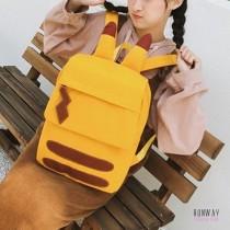 【免運】皮卡丘萌耳朵學生風學院風帆布後背包 X RUNWAY FASHION ICON