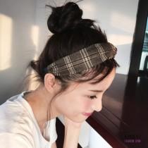 英倫風氣質格紋假髮帶簡約髮箍2色 X RUNWAY FASHION ICON
