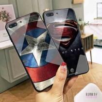 黑色超人蝙蝠俠鋼鐵蜘蛛歐美漫畫隊長盾牌質感美國玻璃殼手機殼保護殼iPHONESamsung三星HUAWEI華為 X RUNWAY FASHION ICON