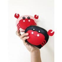 【現貨粉色.灰色】QQ小螃蟹隨身小零錢包2色 X RUNWAY FASHION ICON