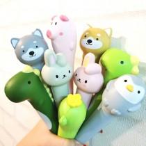 動物造型紓壓筆 可愛恐龍柴犬兔子貓掌超好寫 中性筆0.5mm 辦公用品 創意文具 X RUNWAY FASHION ICON