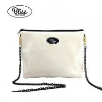 【影片實拍】【正版授權】泰國Bliss BKK包 - 質感素色白 手拿包側背包 (4款背帶可選) X RUNWAY FASHION ICON