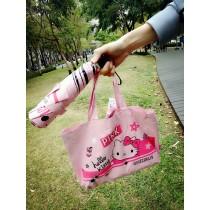 三麗鷗 HELLO KITTY度假風(附手提袋) / 三折傘 / 黑膠 / 陽傘雨傘 X RUNWAY FASHION ICON