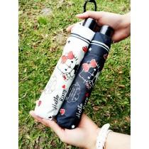 三麗鷗 HELLO KITTY 抱娃娃系列 / 三折傘 / 黑膠 / 抗UV / 陽傘雨傘(白色.黑色) X RUNWAY FASHION ICON