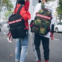 【免運】美式休閒字母牛津布配色大容量男女雙肩後背包(5色) X RUNWAY FASHION ICON