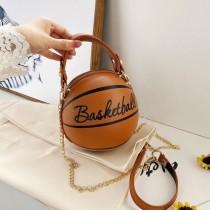 【免運】個性籃球造型手提包  ♥  字母圖案足球包籃球包單肩包斜肩包小圓包(9包) X RUNWAY FASHION ICON