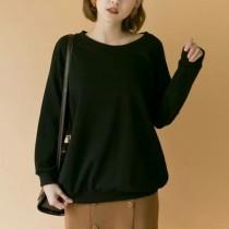 【現貨免運】 冬季新款單色寬版縮口棉質上衣 X RUNWAY FASHION ICON