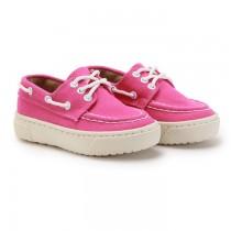 【絕版現貨優惠出清】桃紅16  FUFA富發牌國民鞋*素色可愛帆船兒童鞋