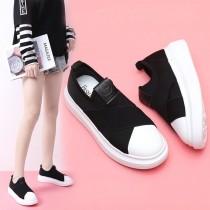 【免運】運動風厚底鬆糕鞋 好穿平底帆布鞋 X RUNWAY FASHION ICON
