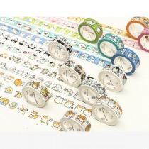 【買三送二】和風團子醬日常系列裝飾手帳日記紙膠帶_15mm*7m單捲入(10色)