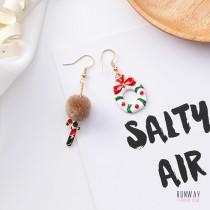 【現貨  聖誕節系列】甜美聖誕節系列鈴鐺禮物繽紛防敏鋼針耳環 X RUNWAY FASHION ICON